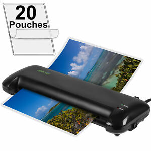 Apache 13 A3 Size Black Thermal Laminator And 20 Pouches