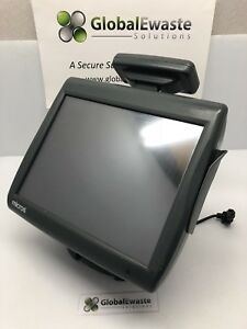 Micros Workstation 5a 400814 101 Pos Touchscreen W Display Screen And Stand