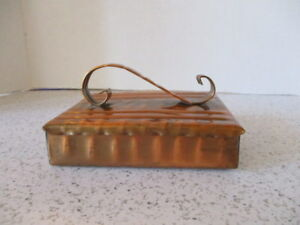 Arts Crafts Style Box Covered Trinkets Or Cigarettes Gregorian Studios