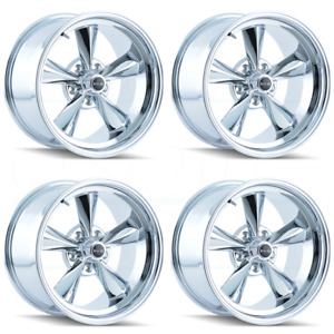 15x8 Ridler 675 5x4 75 5x120 65 12 Chrome Wheels Rims Set 4