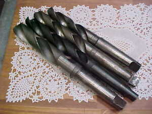Four Morse Taper Shank Drills Sizes Are 1 17 32 1 9 32 1 15 64