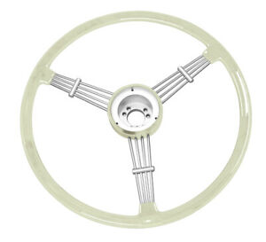 Banjo Style Vintage Steering Wheel Kit Silver Grey