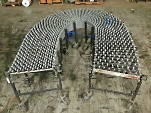 Best Flex Portable Expandable 10 To 40 Skate Wheel Roller Conveyor Lot 2
