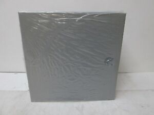 Wiegmann Wall Mount Nema Enclosure 12 H X 12 W X 6 D A121206 Gray Knockouts