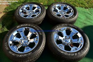 20 Dodge Ram Big Horn Oem Factory Chrome Clad Wheels 1500 Genuine 2019 Tires