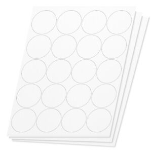 Round Circle Dot 2 Stickers Labels For Laser Inkjet Printers 40000 Labels