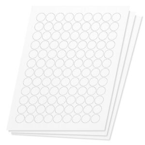 Round Circle Dot 3 4 Stickers Labels For Laser Inkjet Printer 216000 Sheets