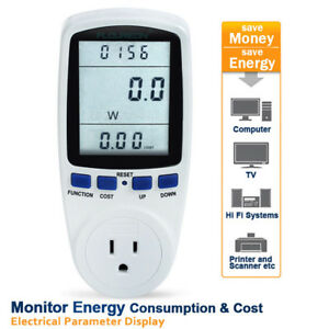 1 10pcs Floureon Power Meter Energy Monitor W kwh volts amps Monitor Us Plug