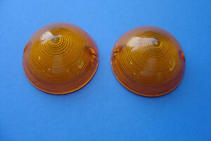 1964 64 1965 65 1966 66 Chevrolet Van Parking Light Lens Amber New Pair