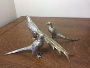 Silverplate Pheasant Table Decor Lot Fb Rogers Silver Co Salt Pepper Shakers
