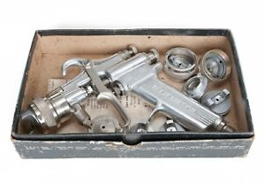 Devilbiss Mbc Spray Gun new In Box With Suction Feed Cup And Extra Air Caps