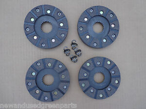 John Deere 40 420 430 T W I And 1010 Ru S Rc Brake Discs Set Of 4 And Springs