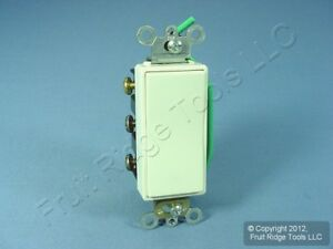 New Leviton Almond Dpdt Center off Decora Rocker Light Switch Maintained 5686 2a