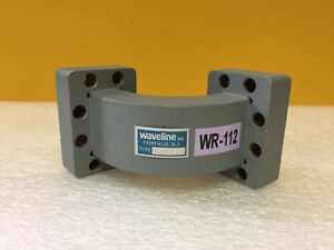 Waveline 532 2 wr 112 7 05 To 10 Ghz 90 Waveguide E Bend Tested