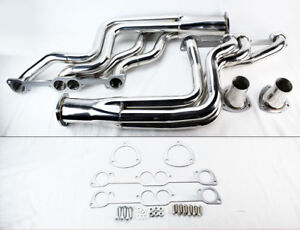 Performance Long Tube Headers For Pontiac Gto 1964 1972 389 400 455 Round Port