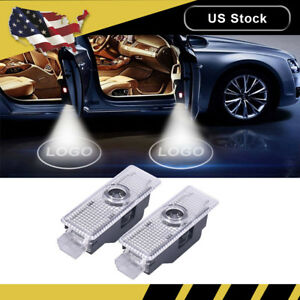 2x For Mini Cooper Logo Led Step Door Courtesy Welcome Light Ghost Projector