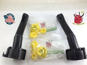 2 Blitz Gas Can Spouts Rings packs Replacement Vintage 900094 900302 New
