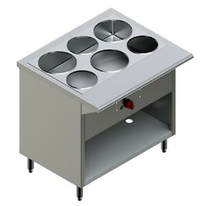 Pantin Commercial 36 Electric Steam Buffet Table Warmer Station Cabinet 3000w