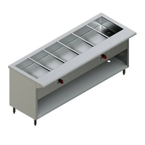 Pantin Commercial 72 Electric Steam Buffet Table Warmer Station Cabinet 5000w
