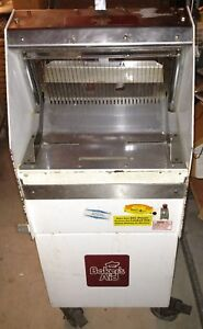 Commercial Baker s Aid Bread Slicing Machine Works Great On Roll Around Base