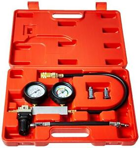 Cylinder Leak Down Leakage Detector Tester Gauges Engine Compression Kit