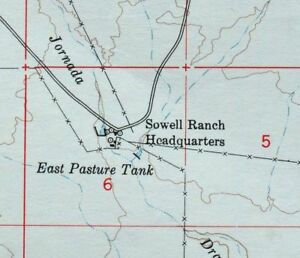 1948 Sowell New Mexico San Andres Mountains Vintage 15 Minute Usgs Topo Map