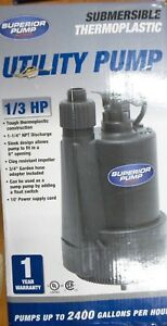 Superior Pump 91330 1 3 Hp Thermoplastic Submersible Utility Pump r713