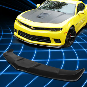 For 14 15 Chevy Camaro Ss Z28 1le Style Paintable Front Bumper Lip Spoiler Wing