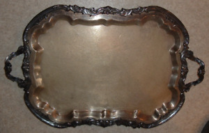 X Large 28 75 X 18 Silverplate Tray F B Rogers Silver Co 1883 Art Nouveau 3677