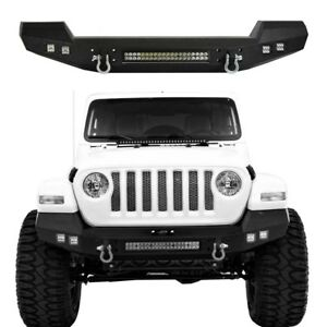 Climber Rock Crawler Front Bumper W Led Lights For Jeep Wrangler Jl 2018