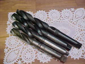 Four Morse Taper Shank Drills Sizes Are 1 5 16 1 19 32 1 13 32