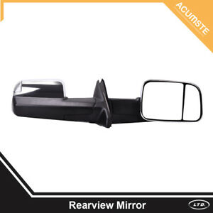 Pair Power Heated Moked Signal Towing Side Mirrors For 2009 2016 Dodge Ram 1500
