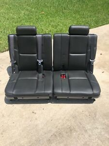 2007 14 Tahoe Suburban Yukon Escalade 3rd Third Black Leather Row Seats