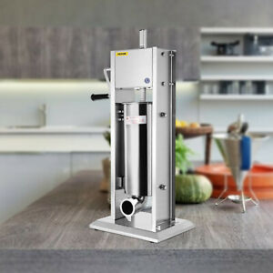 7l Vertical Sausage Stuffer Meat Maker Filler Stainless Steel Commercial New