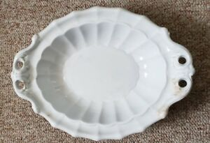 J Wedgwood White Ironstone Fluted Pearl Tureen Bottom 13 1 4 Long Ca Mid 1800s