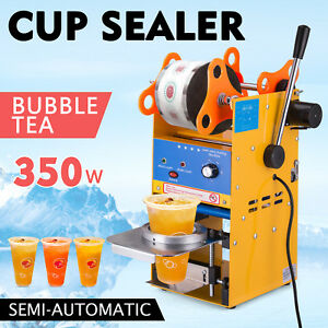 300 500 Cups h Semi automatic Tea Cup Sealing Machine Ps Stainless Steel Newest