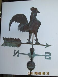 Rooster Old Copper Rooster Weather Vane Barn Decor