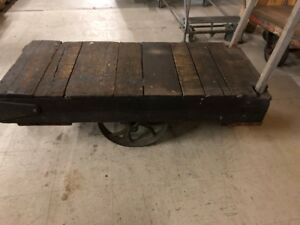 Factory Cart Coffee Table Furniture Industrial Vintage