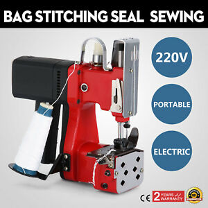 220v Industrial Bag Stitching Closer Seal Sewing Machine Cloth Electric Tool Ca