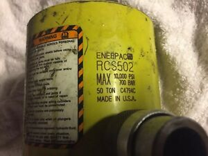 Enerpac Rcs 502 Nice Hydraulic Cylinder 50 Tons 2 3 8in Stroke 2