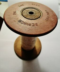 Baer Silk Mill Baer Co Berwick Pa Antique Wood Textile Thread Spool 1903 14