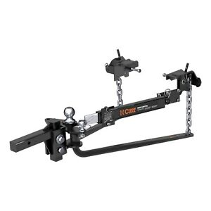 Curt 17062 Weight Distributing Hitch Bar 12 W 10000 Lbs Gtw Fits 2x2 Receiver