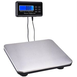 660lb Lcd Ac Digital Floor Bench Scale Postal Platform Shipping 300kg Weight