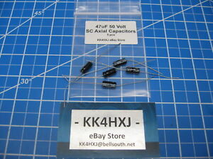 Sc Gha Series Axial Electrolytic Capacitors 50v 47uf 5 Pieces