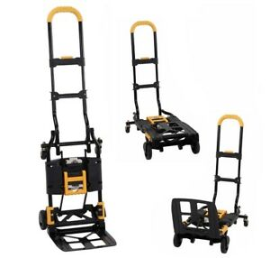 Folding Hand Truck Cart Dolly Convertible Wheels Moving Utility Carts Carrier