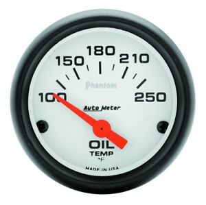 Auto Meter Phantom 52mm Oil Temp 100 250 F Electronic Gauge Kit