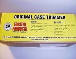 Forster Products Original Case Trimmer Kit CTK100 NEW in Box  Un-OpenedUnused