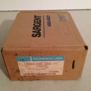 New In Opened Box Sargent 10 Line Cylindrical 10u15 10b Passage Lock Set