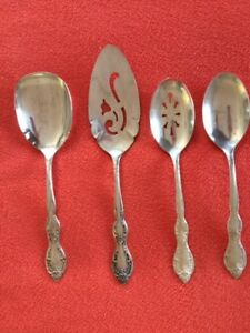 Beverly Manor Wm Rogers Is Silver Plate Flatware Serving Set 4 Pieces