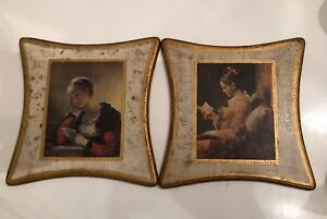 Vintage Wooden Pictures Frames Decorations Apco Japan Home Decor Shabby Chic A
